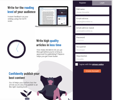 Edia Papyrus write quality articles in less time